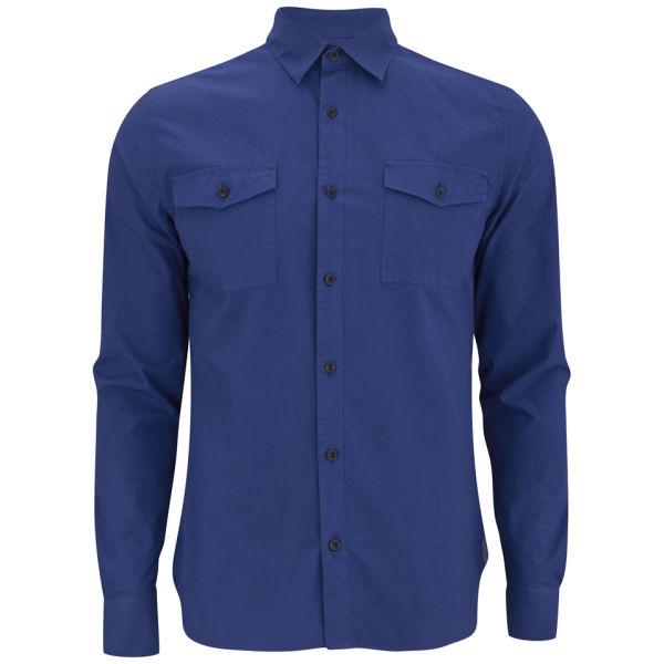 Hardy Amies Men's Two Pocket Shirt - Indigo