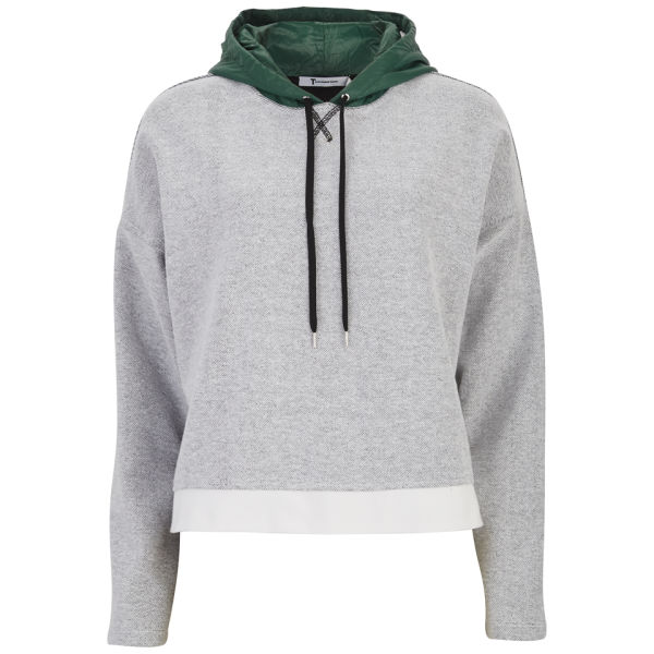 T by Alexander Wang Women's French Terry Hooded Sweatshirt - White