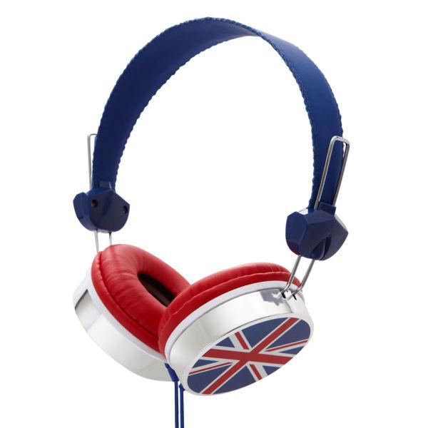 Groov E Union Jack Designer Headphones Electronics Zavvi
