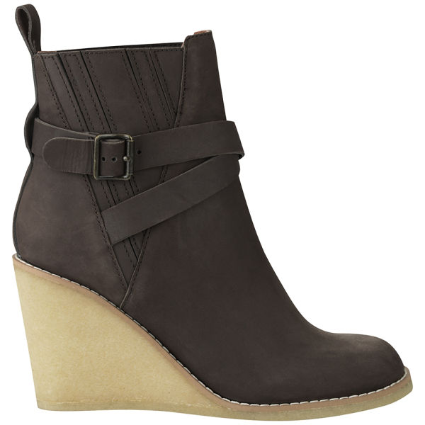 See By Chloé Women's Heidi Leather Wedged Boots - Brown