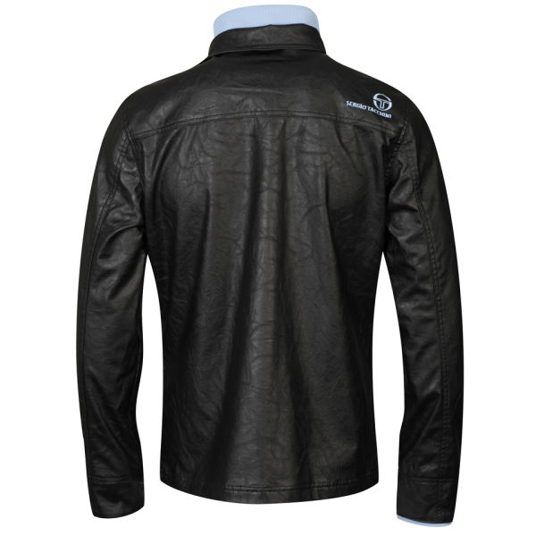 sergio tacchini men 39 s leather look jacket 38 jacket. Black Bedroom Furniture Sets. Home Design Ideas