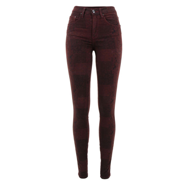 Nobody Women's Cult Skinny Jeans - Bordeaux