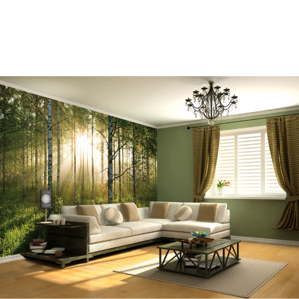 Wonderful Forest Scene Wall Mural Part 3