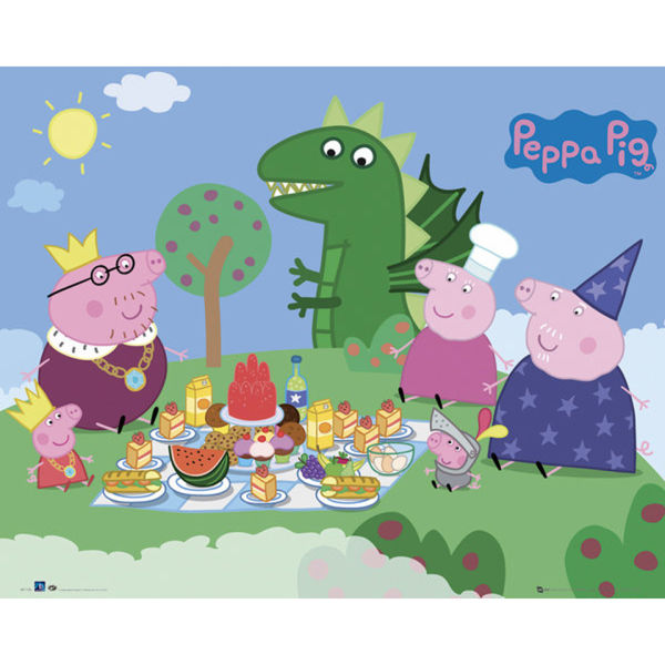 Peppa Pig Princess Picnic - Mini Poster - 40 x 50cm