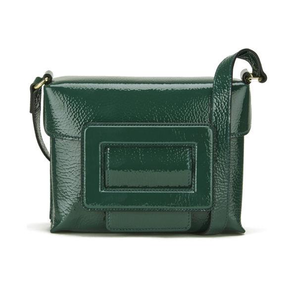 Orla Kiely Leather Fairfield Bag - Emerald