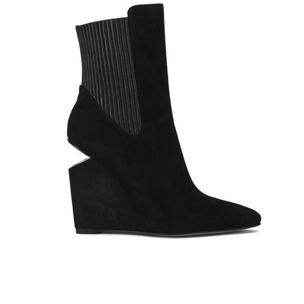 Alexander Wang Women's Andie Wedged Heel Leather Ankle Boots - Black