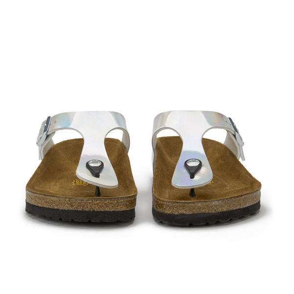 birkenstock women 39 s gizeh toe post metallic sandals. Black Bedroom Furniture Sets. Home Design Ideas