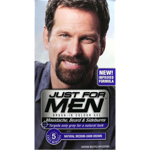 Just For Men Beard And Moustache Colour Gel Medium Dark