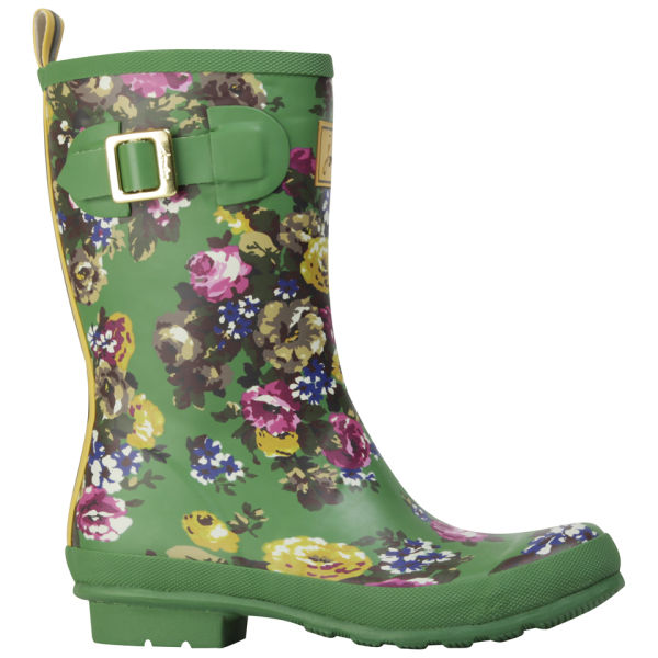 Joules Women's Molly Wellies - Green Floral