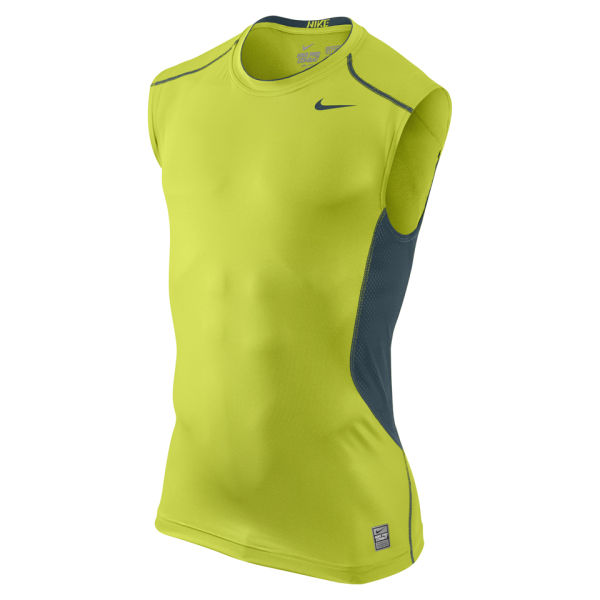 Nike men 39 s hypercool fitted sleeveless training t shirt for Nike men s pro cool sleeveless shirt