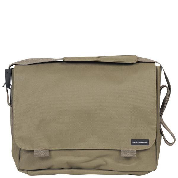 French Connection Men's Core Nylon Messenger Bag - Khaki