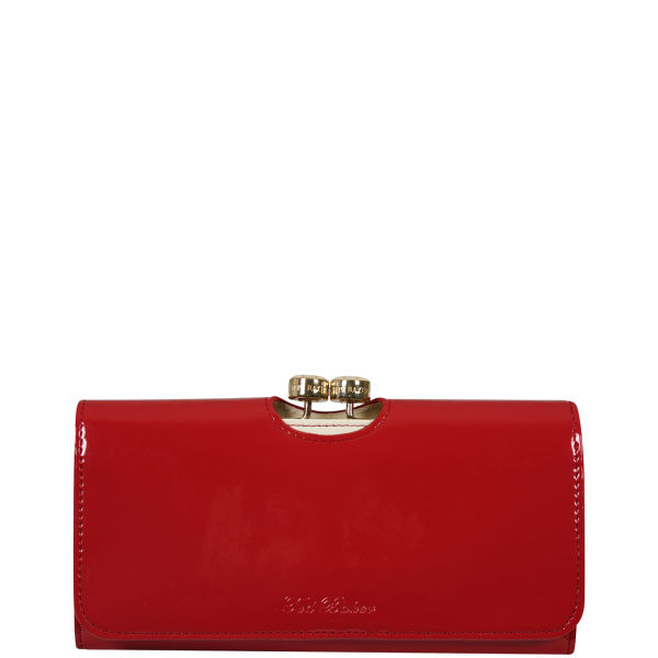c20376ecec3867 Ted Baker Maggye Bow Bobble Leather Matinee Purse - Red Womens ...