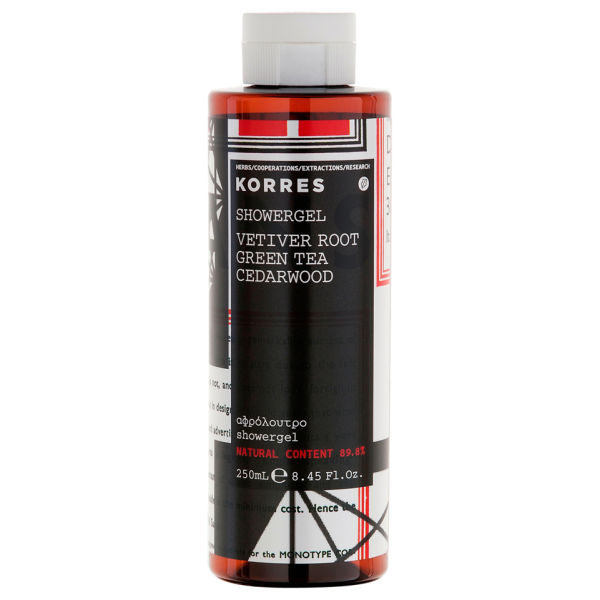 KORRES Vetiver Root, Green Tea And Cedarwood Shower Gel 250 ml