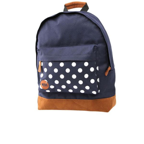 Mi-Pac Polkadot Backpack - Navy