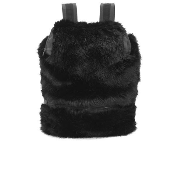 Christopher Raeburn Remade Faux Fur Daypack Backpack - Black