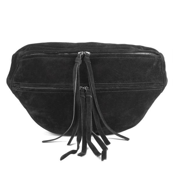 Yvonne Koné Women's Oversized Bum Bag - Suede Black