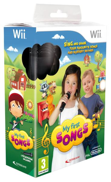 My First Songs with Microphone Nintendo Wii