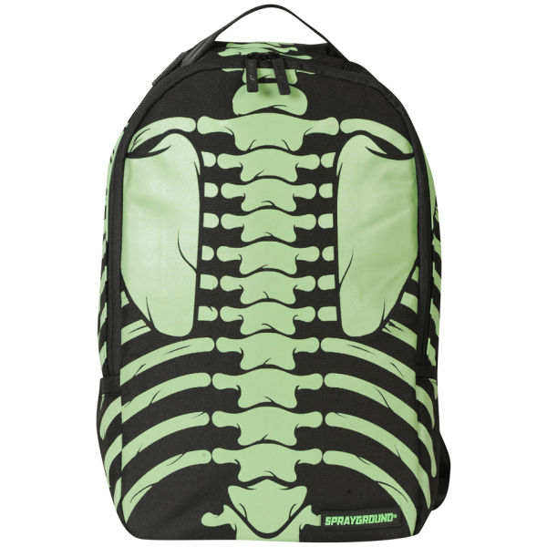Sprayground Bones Deluxe Backpack Green Black Mens Accessories Zavvi Us