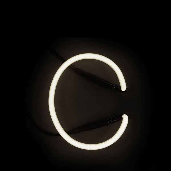 Seletti neon wall light letter c iwoot for Large neon letters