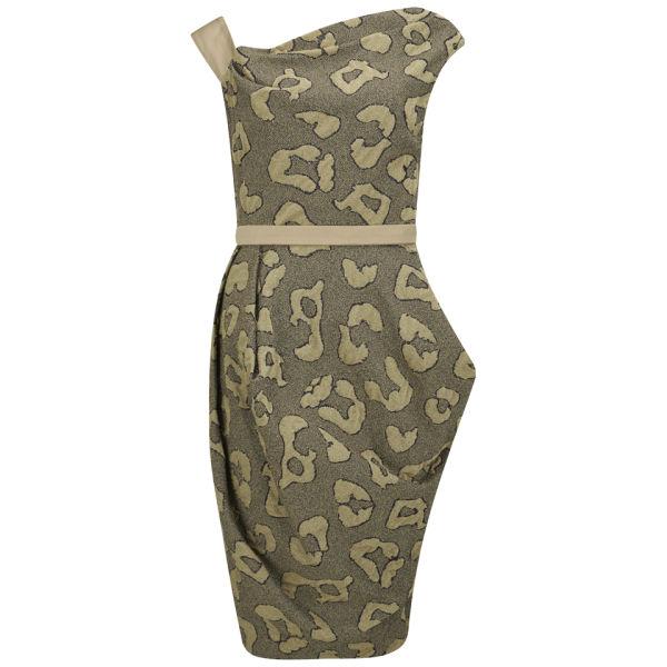 Vivienne Westwood Red Label Women's Leopard Jersey Evening Dress - Gold