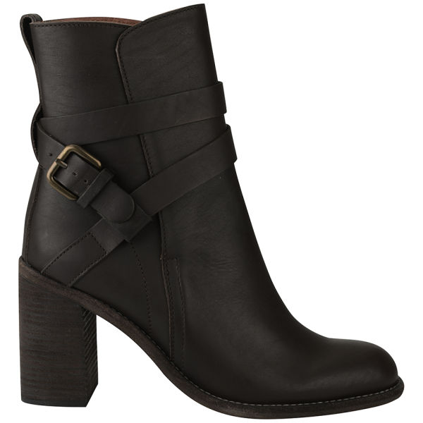 See By Chloé Women's Janis Heeled Leather Boots - Brown