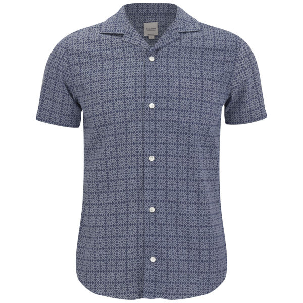 Hardy Amies Men's Printed Monogram Shirt - Navy