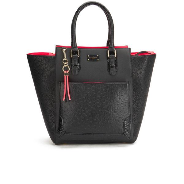 Paul s Boutique Melissa Ostrich Trim Tote Bag - Black Coral  Image 1 03a64ebfedf9e