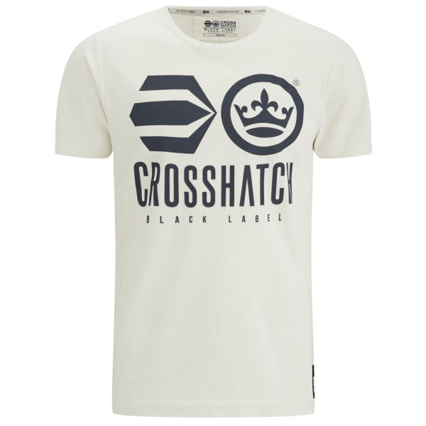 Crosshatch Men's Classico T-Shirt - Silver Birch
