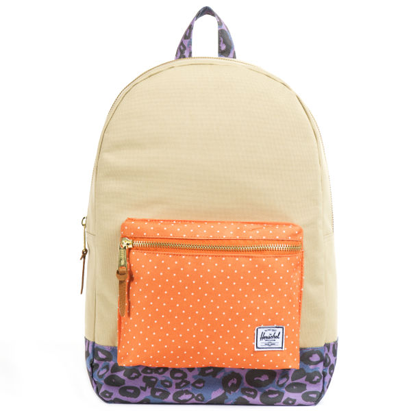 Herschel Supply Co. Settlement Backpack - Khaki/Orange Polka Dot/Purple Leopard