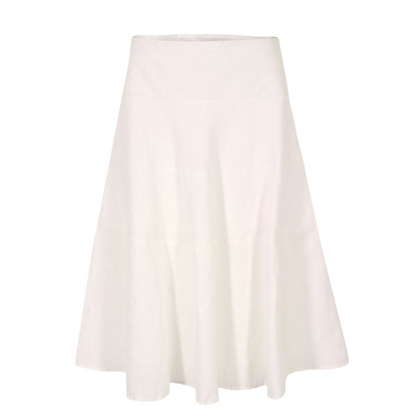 Great Plains Women's J3BG9 Sandbanks Linen Tiered Skirt - White