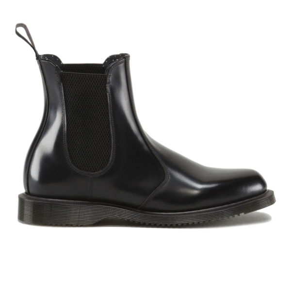 Dr. Martens Women's Kensington Flora Polished Smooth Leather Chelsea Boots - Black