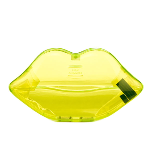 Lulu Guinness Lips Perspex Clutch Bag - Neon Green