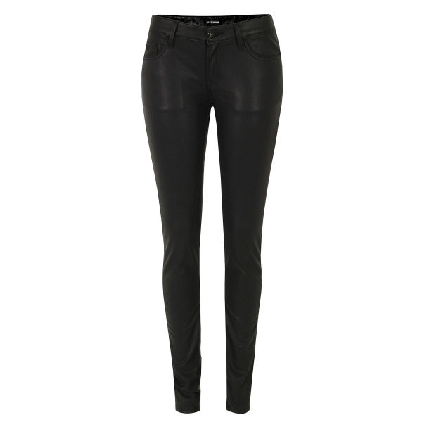 Denham Women's Cleaner SPL Faux Leather Jeans - Black