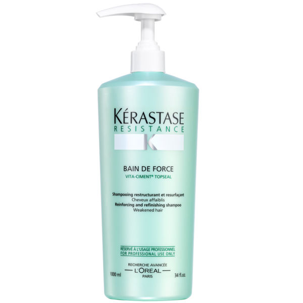 K rastase resistance bain de force topseal 1000ml free for Kerastase bain miroir 2 shampoo