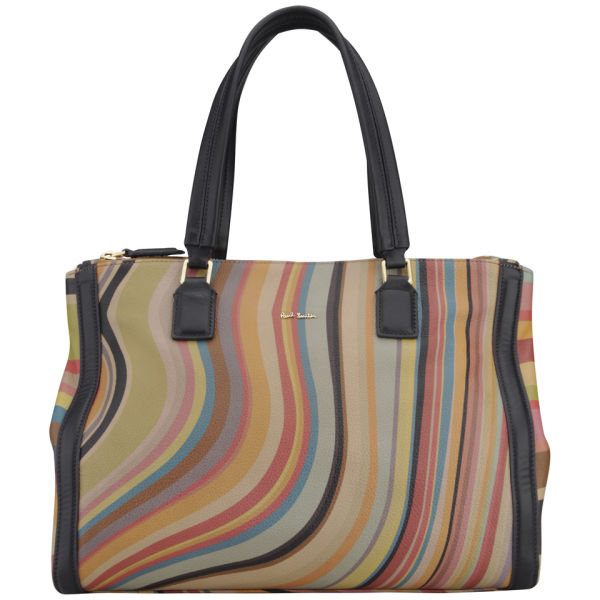Paul Smith Accessories Double Zip Leather Tote Bag - Swirl