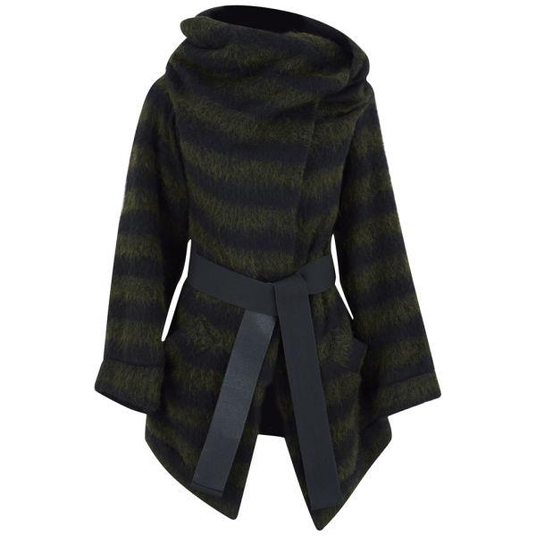 Vivienne Westwood Anglomania Women's Talik Boiled Wool Coat - Green