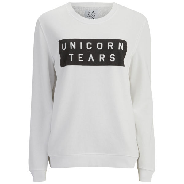 Zoe Karssen Women's Unicorn Tears Sweatshirt - White