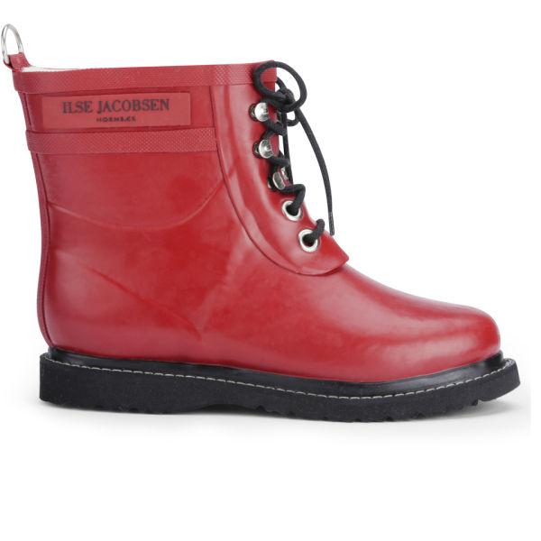 Ilse Jacobsen Women's Short Rubber Boots - Red