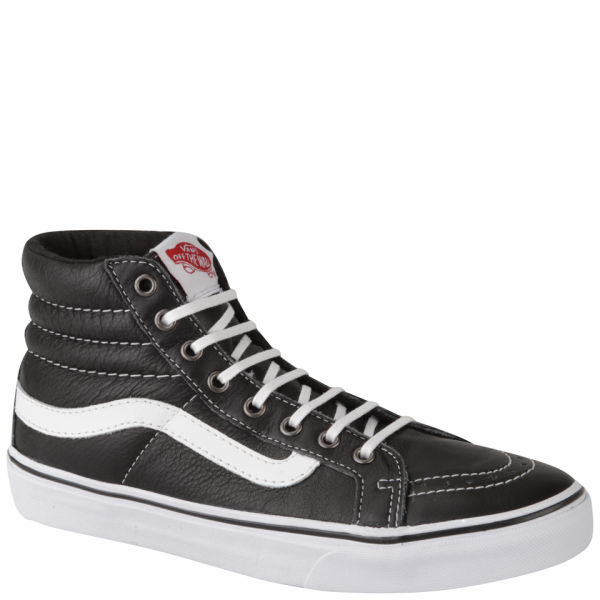 Vans Women s Sk8-Hi Slim Leather Hi-Top Trainers - Black Womens ... 8d4f7a839