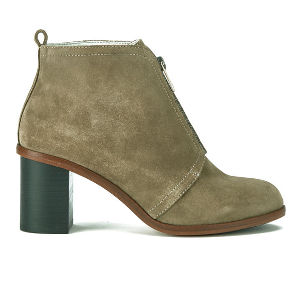 Paul Smith Shoes Women's Barton Suede Heeled Ankle Boots - Desert Silky Suede