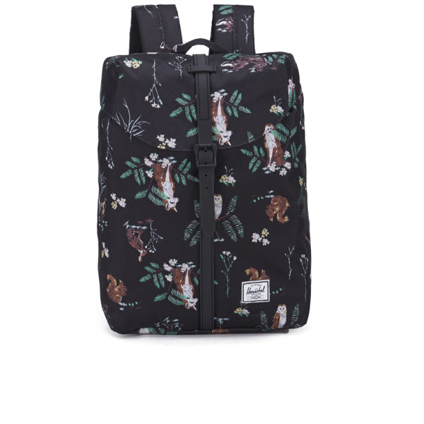 Herschel Supply Co. Post Printed Mid Volume Backpack - Countryside Black  Rubber  f0096a2940039