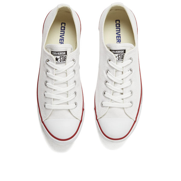 Converse Womens Chuck Taylor All Star Dainty Ox Trainers  White Image 2