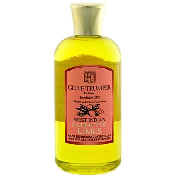 Gel douche et bain extrait de citron vert de Trumpers 200 ml