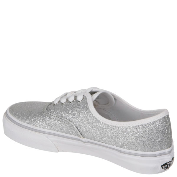 fc6cabf2f864 Vans Kids  Authentic Canvas Trainers - Glitter Silver Clothing ...