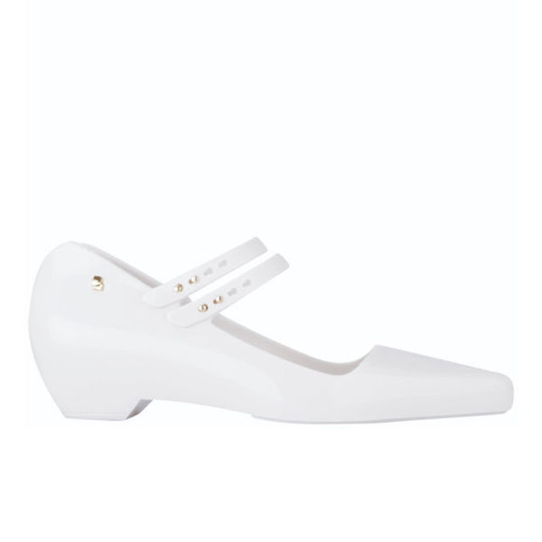 Karl Lagerfeld for Melissa Women's Melissima 11 Pointed Toe Flat Shoes - White
