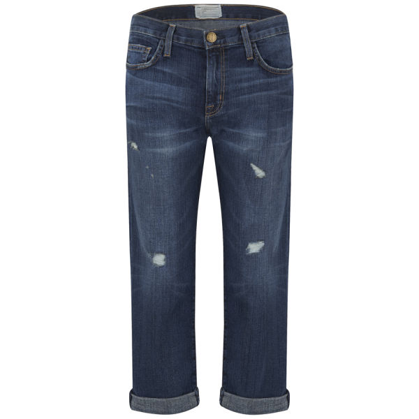 Current/Elliott Women's The Boyfriend Mid Rise Loved Destroyed Jeans - Love Destroy