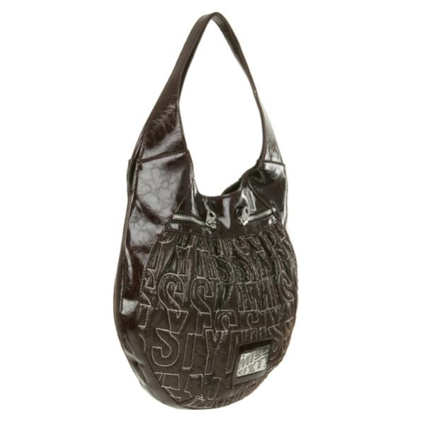 7fe807c16 Miss Sixty Embroidered Logo Shoulder Bag - Cocoa Brown: Image 2