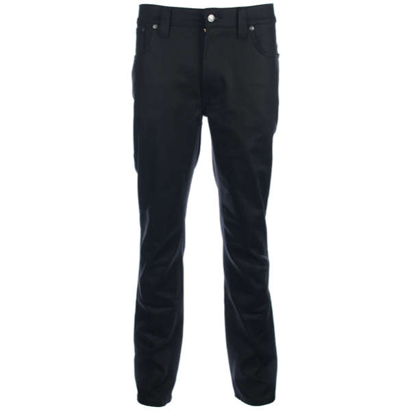 Nudie Jeans - Nudie Thinn Finn Dry Coated Jeans in Black