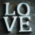 Nkuku Distressed Mango Wood Letters - Distressed White - H (15cm): Image 1