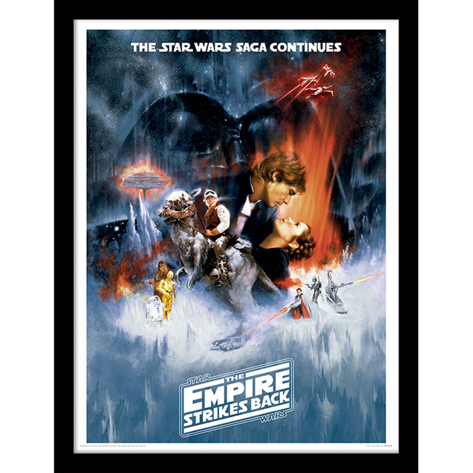 star wars the empire strikes back one sheet framed
